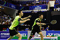 Yonex IFB 2013 - Quarterfinal - Liu Xiaolong - Qiu Zihan vs Mathias Boe - Carsten Mogensen 06.jpg