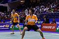 Yonex IFB 2013 - Quarterfinal - Sudket Prapakamol - Saralee Thungthongkam vs Kenichi Hayakawa - Misaki Matsutomo 07.jpg