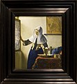 Young Woman with a Water Pitcher - Painting of Vermeer, with frame.jpg