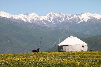 Almaty Region - Image: Yurt in Tekeli
