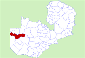 District location in Zambia