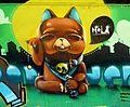 Zaragoza - Graffiti - Gato.JPG