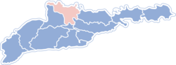 Location of Zastavnas rajons
