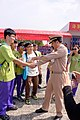 Zhan-Hao Hu, ROCN Rear Admiral Handshaking with Student of Kaohsiung Siaogang Senior High School in 2015 Zuoyang Naval Base Open Day 20151024.jpg