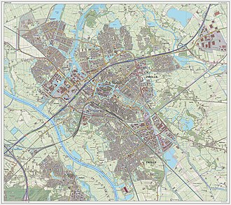 Zwolle - Dutch Topographic map of the city of Zwolle, September 2014