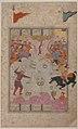"""Rustam Fighting Ashkabus"", Folio from a Shahnama (Book of Kings) MET sf65-7-4r.jpg"