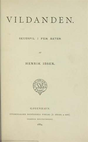 The Wild Duck - Title page First Edition, 1884
