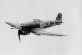"No. 486 Squadron RNZAF - Hawker Typhoon flown by P/O Frank ""Spud"" Murphy (four Typhoon victories). In 1944, Murphy became a test pilot (later chief test pilot) for Hawker."