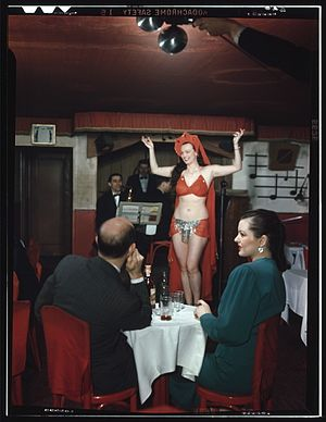 Table dance - A dancer at Club Nocturne, New York, N.Y., 1940s