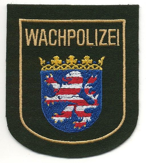 Ärmelabzeichen der Wachpolizei Hessen (alt)