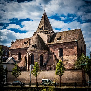 Saint Stephens Church, Strasbourg church located in Bas-Rhin, in France