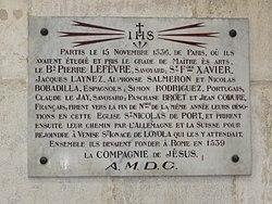 Les Dix Fondateurs Plaquette Dans La Basilique Saint Nicolas De Port