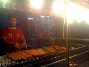Adana kebabı - Adana kebabı on the mangal