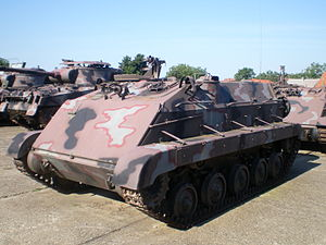 OT M-60 - Croatian army M-60P armoured personnel carrier at the Vukovar war museum.