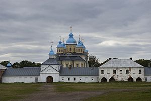 Konevsky Monastery - The katholikon was built between 1800 and 1809.