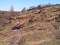 Мар'їн стрімчак. Скелі з лишайниками.jpg