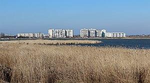 Saky - Image: Панорама города Саки и Сакского озера (Чокрак)2