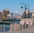 Пешеходный Краснофлотский мост, Поцелуев мост. 2004-04-02.jpg