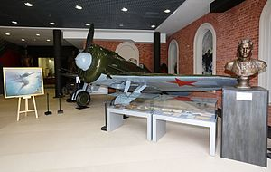 Central Naval Museum - I-16 fighter of Twice-Hero of the Soviet Union Lt. Col. Boris Safonov