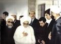 آیت الله حاج میرزا خلیل کمره ای در دانشگاه ابی النور سوریه.png