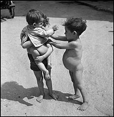 """Children In Naples, Italy"". Poor children. Photographed by Lieutenant Wayne Miller, July 1944. U.S. Navy Photograph, now in the collections of the National Archives.jpg"