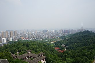 Ezhou - A view of Ezhou urban area from the top of Wuchang Tower, West Hill
