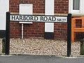 -2019-10-10 Street name sign, Harbord Road, Overstrand, Norfolk.JPG