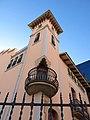 007 Casa Niubò (Mollerussa), torre i balcó cantoner.JPG