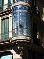057 Cases Salvador Andreu, c. Gran de Gràcia 74-76 (Barcelona), tribuna cantonera.jpg