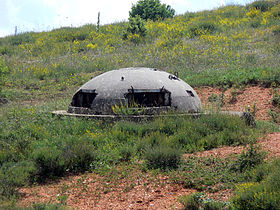 One of over 700,000 bunkers in Albania during the rule of Enver Hoxha