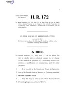 116th United States Congress H. R. 0000172 (1st session) - New Source Review Permitting Improvement Act of 2018.pdf
