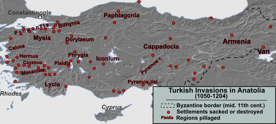 11 13th century Asia Minor Turkish Invasions
