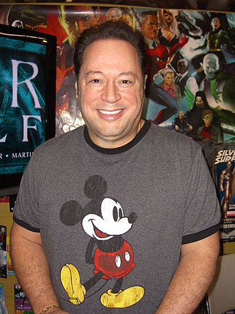 "Joe Quesada - Quesada at the December 21, 2010 press conference to announce the ""Fear Itself"" event at Midtown Comics Times Square in Manhattan"