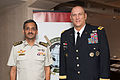 130911-024 U.S. Army Chief of Staff Gen. Ray Odierno meets Singapore Chief of Army Maj. Gen. Ravinder Singh during the Pacific Armies Chiefs Conference in Auckland.jpg