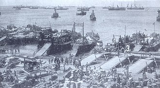 Alhucemas landing - Spanish troops landing at Alhucemas Bay