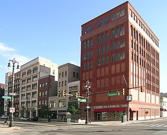 Lower Woodward Avenue Historic District - Image: 1400 1456 Woodward Detroit MI