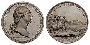 Washington Before Boston Medal - Image: 1776 Washington Before Boston Comitia Americana Second Restrike (Baker 48G)