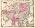 1862 Johnson Map of Asia - Geographicus - Asia-johnson-1862.jpg