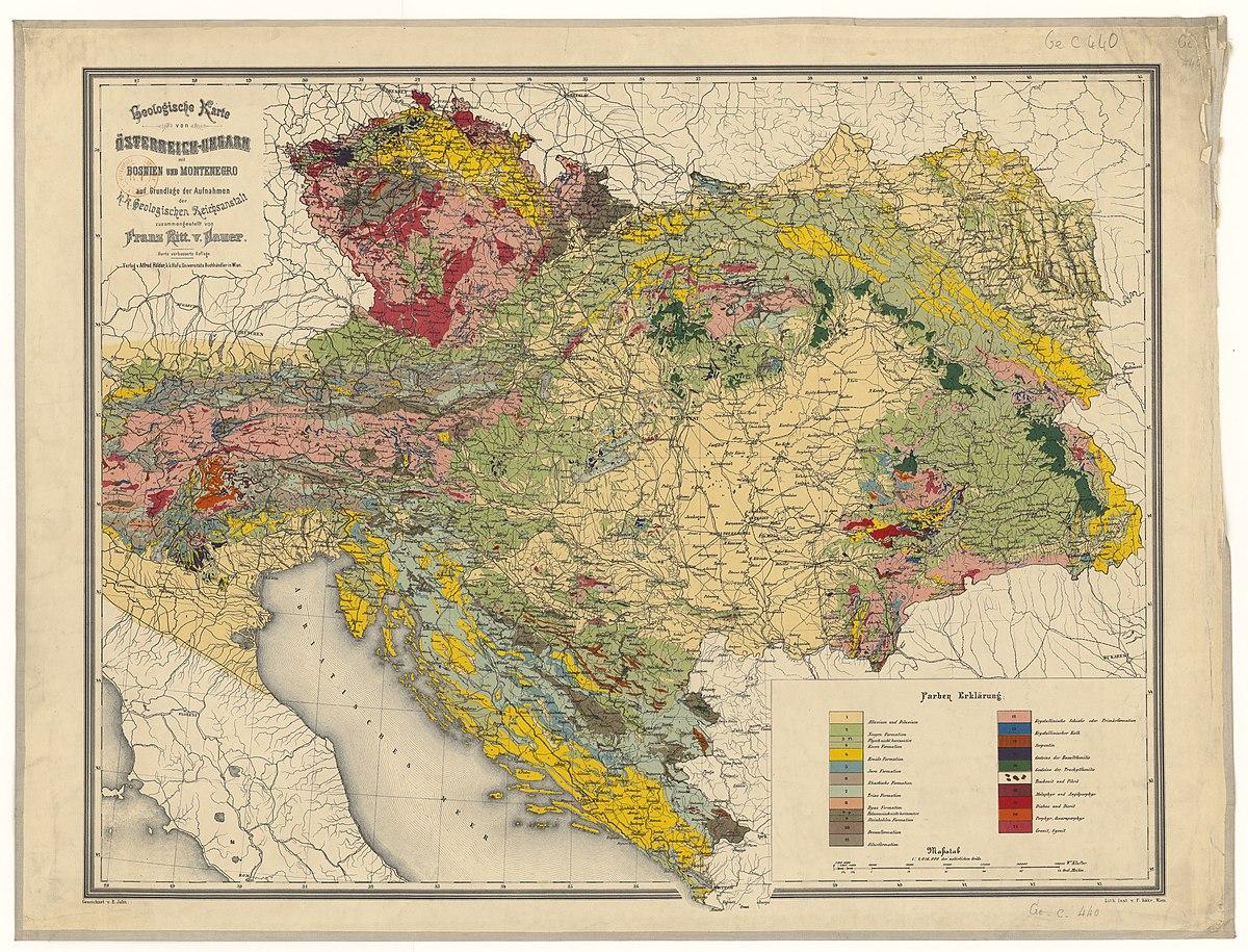 File 1880s Geologische Karte Von Osterreich Ungarn Mit Bosnien