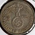 1938 German nazi coin - 2 Reichsmark - Deutsches Reich 1938 - Photo by Kevin Dooley - 5402440804 2 Reichsmark Deutsches Reich 1938 Photo by Kevin Dooley.jpg