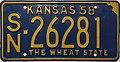 1958 Kansas License Plate.JPG