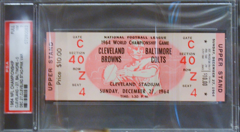 1964 NFL Championship ticket