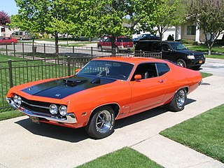Ford Torino Automobile produced by the Ford Motor Company for the North American 1968-1976