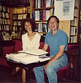 1990-07-27 Hiltrud und Gerhard Schröder zu Gast in der Georgsbuchhandlung bei Otto Stender, Georgstraße 52 in Hannover (2).jpg