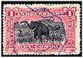 1F Stamp of Belgian Congo used Boma c. 1900.jpg