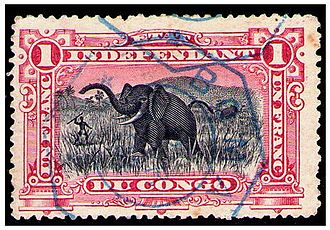 Boma, Democratic Republic of the Congo - A stamp of the Congo Free State, used in Boma around 1900