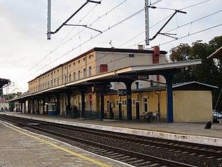 Stargard railway station Railway station in Stargard, Poland