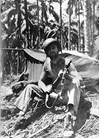 1st Marine Division (United States) - A Marine of the 1st Marine Regiment on Guadalcanal.