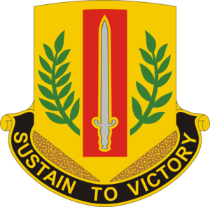1st Sustainment Brigade (United States) - Image: 1st Sust Bde DUI