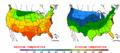 2002-09-28 Color Max-min Temperature Map NOAA.png